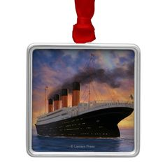 Shop Titanic SceneWhite Star Line Metal Ornament created by LanternPress. Personalized Christmas Ornaments, Christmas Tree Ornaments, Wedding Color Schemes, Wedding Colors, Titanic Boat, Holiday Festival, Are You The One, Create Yourself, Gender