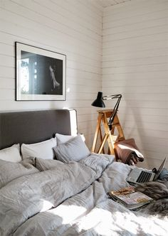 A Ladder As Bedside Table