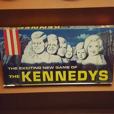 Game of the Week: The Kennedys What famous Americans do you think should inspire a game? #retrogames #gameoftheweek #boardgames #jfk #kennedys