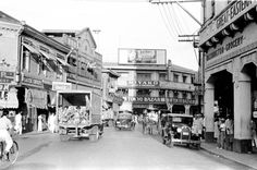 Philippines, pedestrian and car traffic on street in Manila Philippines Culture, Manila Philippines, Exotic Beaches, Tropical Beaches, Treaty Of Paris, President Of The Philippines, The Spanish American War, Uk Visa, Old Photos