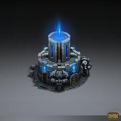 Isometric Temple, Sephiroth Art on ArtStation at https://www.artstation.com/artwork/qZkKz