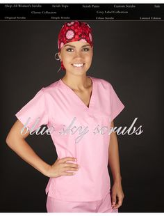 Cute nursing scrubs!  Need to remember this for the future ;)
