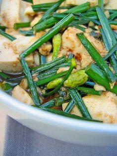 Tofu with garlic chives