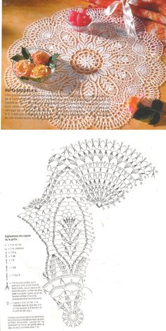 crochet lace ♥ Deniz ♥ More Learn the basics of how to needlecraft (generic term), starting at the very first. If you're brand new to needlecraft (generic ter Free Crochet Doily Patterns, Crochet Doily Diagram, Crochet Lace Edging, Crochet Circles, Crochet Chart, Thread Crochet, Filet Crochet, Crochet Flowers, Crochet Stitches