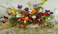 Richard Schmid, 1934   Tutt'Art @   Pittura * scultura * Poesia * Musica   Acrylic Flowers, Watercolor Flowers, Watercolor Art, Drawing Flowers, Still Life Flowers, Painting Workshop, Southwest Art, Mural Painting, Still Life Art
