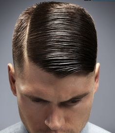 Nicely parted and slicked