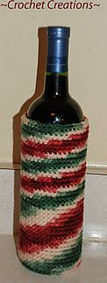Free Crochet Wine Bottle Cozy Pattern.