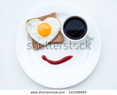 The nice breakfast with love by Mariia Masich, via ShutterStock