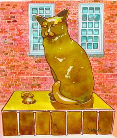 Fine Art Daily - August 29, 2014 Let's Go to London and visit Dr. Johnson's favorite cat, Hodge. http://jeandsanders.blogspot.com/2014/08/fine-art-daily-august-29-2014.html