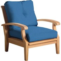 Cayman Teak Patio Chair with Sunbrella Cushions