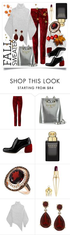 """Fall Sweater-1"" by capricat ❤ liked on Polyvore featuring Haider Ackermann, Charlotte Olympia, Miu Miu, Gucci, LE VIAN, Christian Louboutin and STELLA McCARTNEY"