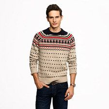 Lambswool Ayrshire Fair Isle sweater