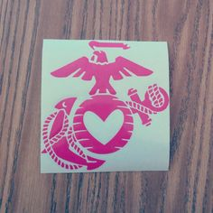 ORIGINAL USMC love decal by xoSouthernCharm on Etsy