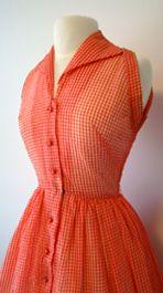Proper Vintage Clothing - RED & WHITE 1950's SUNDRESS