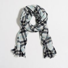 J.Crew Factory - Factory wool plaid scarf: My current go-to