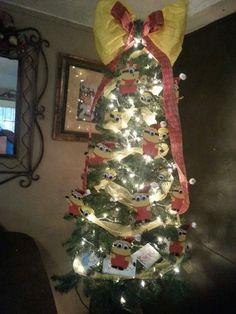 Minion Christmas tree.... This was made by a mom on my parent committee... She did a great job!