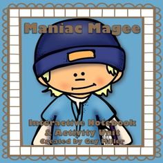 Maniac Magee Interactive Notebook & Activity Unit contains graphic organizers for an interactive notebook and game activities covering vocabulary, constructive response writing, and skill practice. Jerry Spinelli Books, Maniac Magee, Activity Games, Activities, Vocabulary Practice, Vocabulary List, Ella Enchanted, 6th Grade Ela, Free Novels