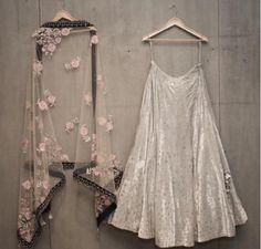 ( ・・・ Matsya ~ Couture The Mukaish Story. Indian Wedding Outfits, Indian Outfits, Lehnga Dress, Gown, Dress Skirt, Indian Lehenga, Lehenga Designs, Desi Clothes, Indian Attire