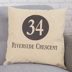 Personalised Address Cushion - cushions