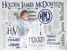 Personalized Baby Blanket Monogram Swaddle Receiving Blanket Custom Blanket Monogrammed Name Baby Shower Gift Fleece Baby Blankets, Receiving Blankets, Baby Boy Monogram, Personalized Baby Blankets, Baby Milestones, Baby Prints, Baby Names, Baby Shower Gifts, Bedding