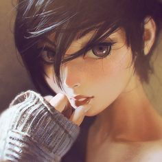 Ilya Kuvshinov illustrations manga8 Hoop Earrings, Earrings
