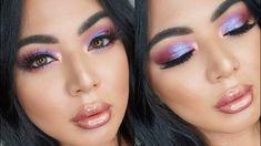 Purple Spring Makeup Tutorial   Huda Beauty Desert Dusk Palette - YouTube