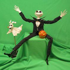 Handmade one of a kind Jack Skeleton Bendie doll from Nightmare Before Christmas