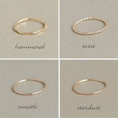 Gold-fill and Sterling Silver rings, set of Thin Stacking rings, gold and silver stack rings, minimalist rings, gold ring - Fine Jewelry Ideas Vintage Engagement Rings, Vintage Rings, Rose Gold Engagement Ring, Zierlicher Ring, Ring Set, Silver Jewelry, Silver Rings, Fine Jewelry, Jewelry Clasps
