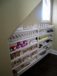 Scrapbook punch storage...a bit out of my league...I just use plastic drawers but I love this if I had the space!