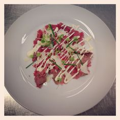 Beef Carpaccio with truffle aioli and shaved Parmesan. Just an average day at work :)