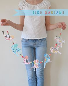 bird garland with Etsy templates | art bar