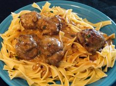 Mom's Swedish Meatballs Recipe #easy #comfort #food #swedish #Meatballs #ground #swedish meatballs #justapinchrecipes Beef Dishes, Pasta Dishes, Best Swedish Meatball Recipe, Beef Recipes, Cooking Recipes, Pasta Recipes, Cooking Food, Dinner Recipes, Meatballs And Gravy