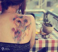 owl tattoo / water color tattoo  http://tattoobytana.blog.me/