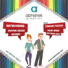 Have an interest in graphic design? We are hiring graphic design interns. #GraphicDesignIntern #GraphicIntern #ApplyNow Visit: http://www.aabhishek.com/career/