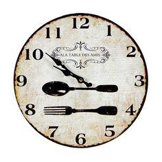 c71fe62defe Relógio de Parede Table Des Amis Cutlery - 29x29 cm
