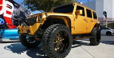 LeBron James Jeep Wrangler | Lebron James's Gold Custom Jeep Wrangler Unlimited