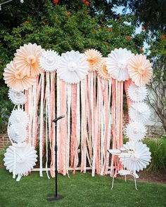 Gorgeous #spring themed #backdrop at this #outdoorevent! Photo via #somethingturquoise #StudioElevenWeddings