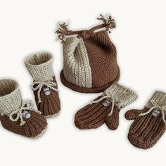 Whoo-Whoo Booties Cap and Mittens 0-9 months KNITTING   Etsy Free Baby Patterns, Kids Knitting Patterns, Knitting Kits, Baby Knitting, Knitted Baby, Weaving Patterns, Free Knitting, Bonnet Pattern, Knit Baby Booties