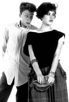 Molly Ringwald and Anthony Michael Hall repining it because I love them so much!