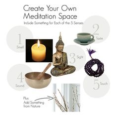 use 5 senses in meditation space | altars, rituals & shrines |