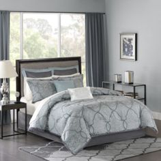 jcp | Madison Park Anouk 12-pc. Jacquard Complete Bedding Set with Sheets