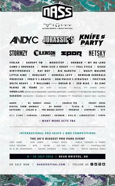 Jurassic 5, Netsky, and more added to NASS Festival 2016