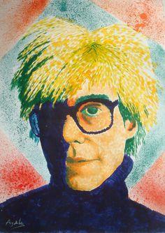 Jonathan García Ayala Andy Warhol 33.5 x 24 cm Acrílico sobre papel. 29 de septiembre de 2016  Acrílico sobre papel