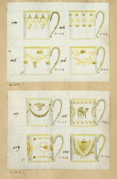243b3a640f Anonyme, France, début 19e siècle Etude Tasses litron aquarelle, 16,6 x  21,7 cm Les Arts Décoratifs, Paris, CD 3859.5-6 ©Photo Les Arts Décoratifs,  Paris