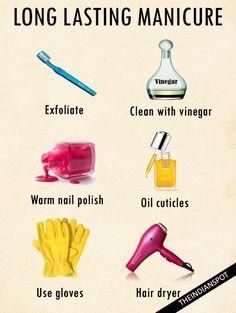 Ways to make your nail polish last longer