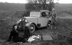 Ladies enjoying a picnic next to a Triumph Scorpion in 1931. Made in five different body styles, it is estimated that only 600 Scorpions wer...