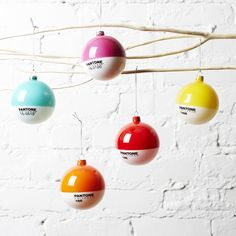 Brighten up your tree with Pantone ornaments. http://go.brit.co/1s0VhJX