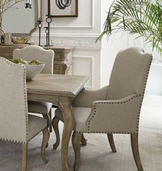 WEATHERED WHITE OAK ARM CHAIR. Furniture, home, decor, design, dining, room, modern, living, contemporary.