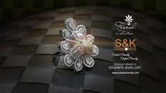 Introducing #Floral #collection. The splendid floral finger ring by S&K Diamonds oozes mesmerizing charm and elegance. Crafted exquisitely, the regal ring is decked with sparkling Baguettes Diamonds. #SKDiamonds #Ahmedabad www.snkdiamonds.com