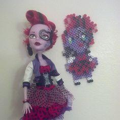 Monster High doll perler bead sprite by megan_christine_creations